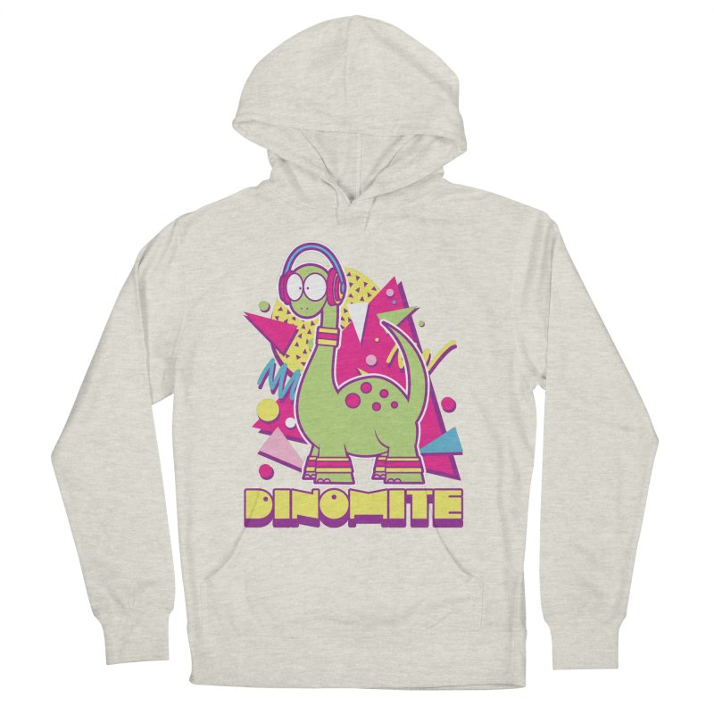 DINOMITE! Men's French Terry Pullover Hoody by Kappacino Creations