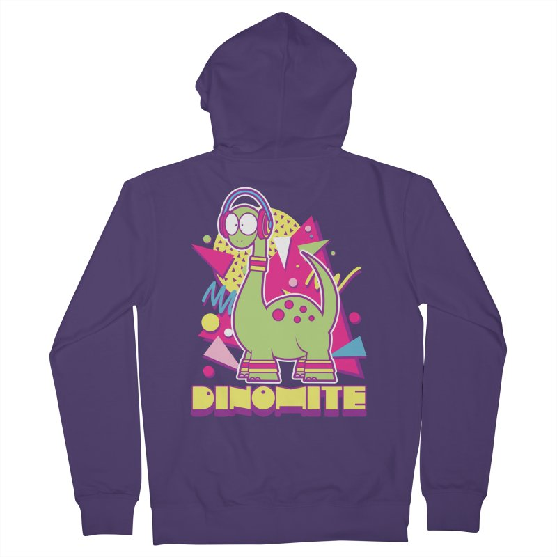 DINOMITE! Women's French Terry Zip-Up Hoody by Kappacino Creations