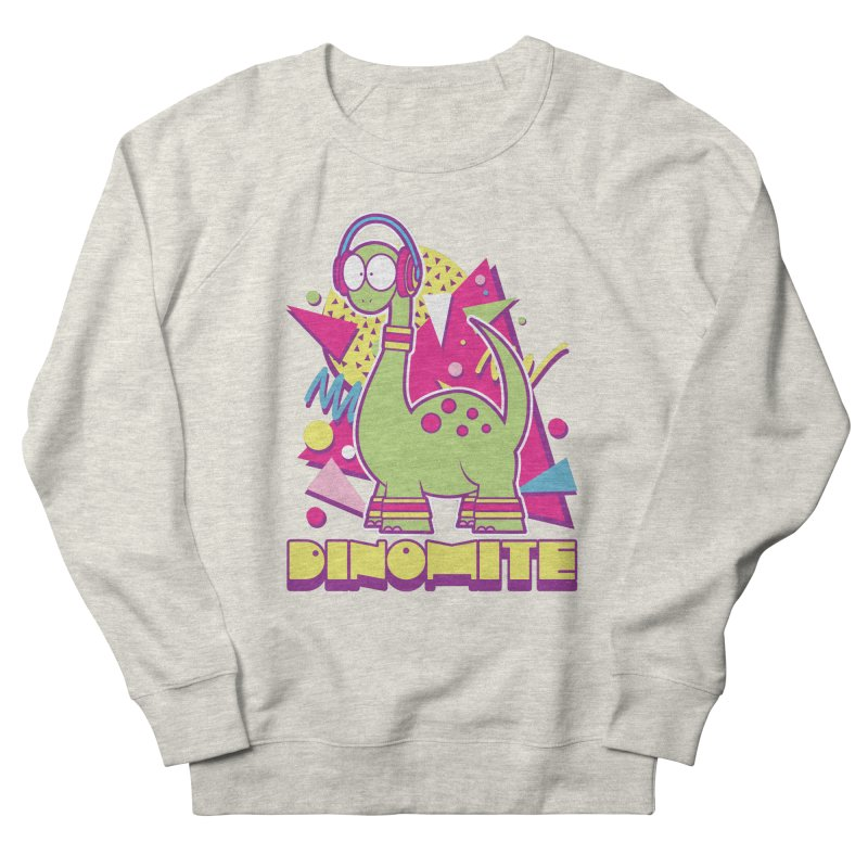 DINOMITE! Men's French Terry Sweatshirt by Kappacino Creations