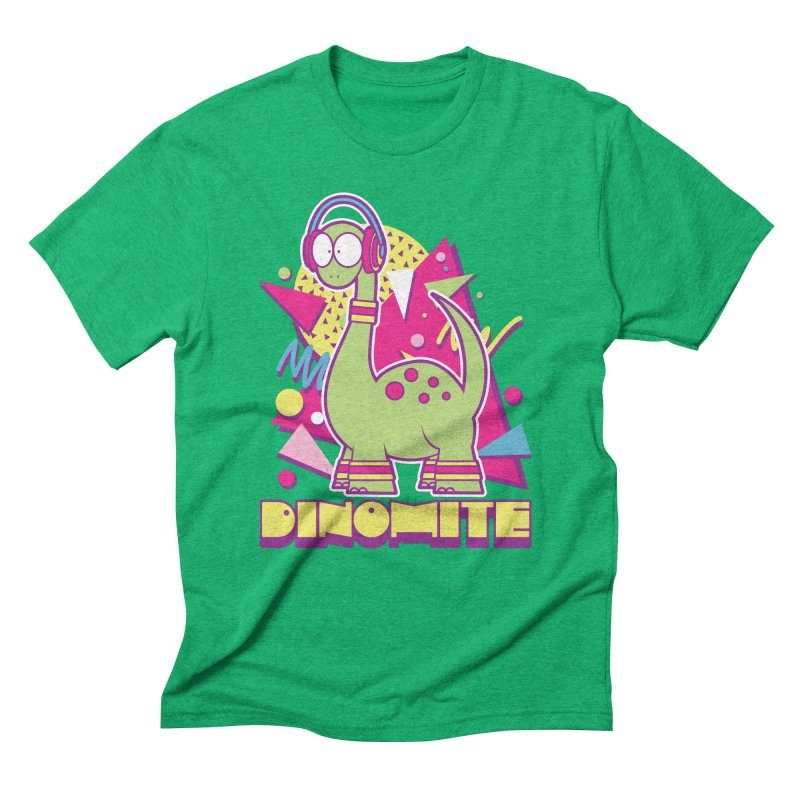 DINOMITE! Men's Triblend T-Shirt by Kappacino Creations