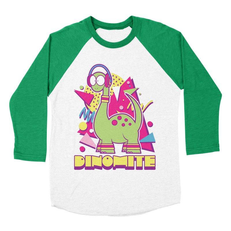 DINOMITE! Women's Baseball Triblend Longsleeve T-Shirt by Kappacino Creations