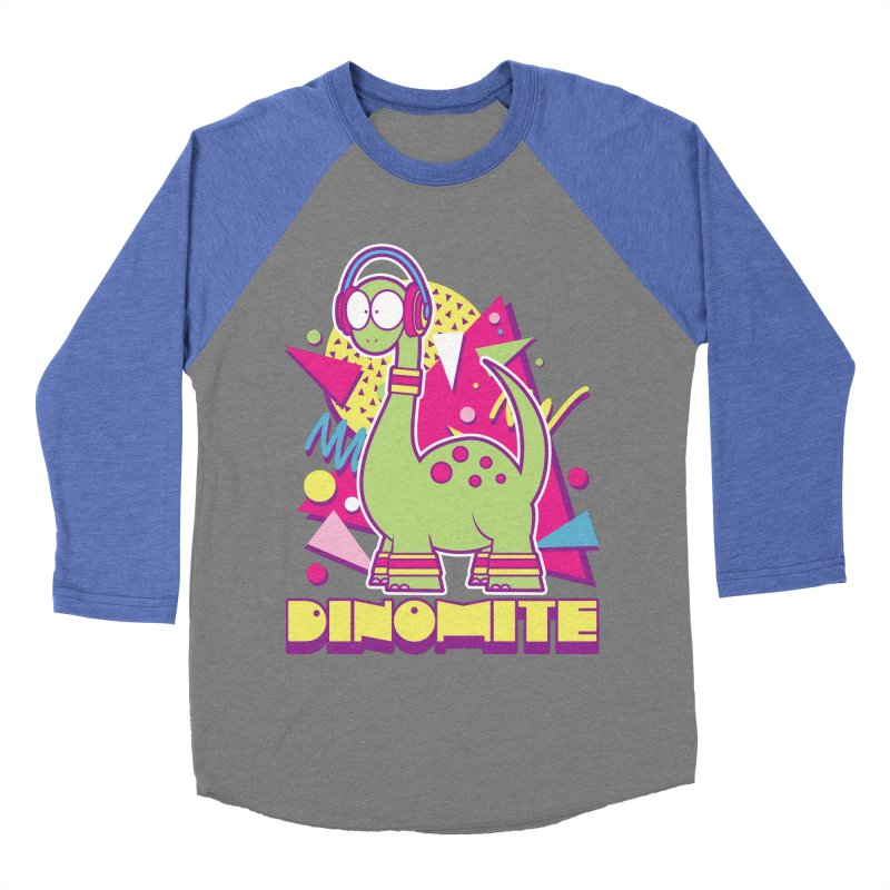 DINOMITE! Men's Baseball Triblend T-Shirt by Kappacino Creations