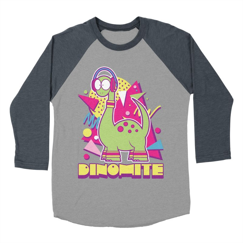 DINOMITE! Men's Baseball Triblend Longsleeve T-Shirt by Kappacino Creations