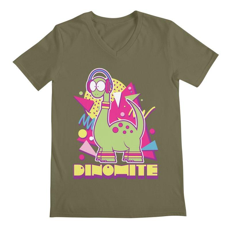 DINOMITE! Men's V-Neck by Kappacino Creations