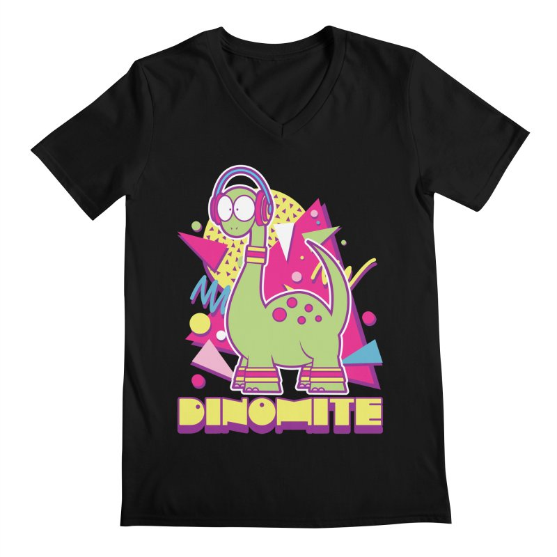 DINOMITE! Men's V-Neck by Kappacino Creations
