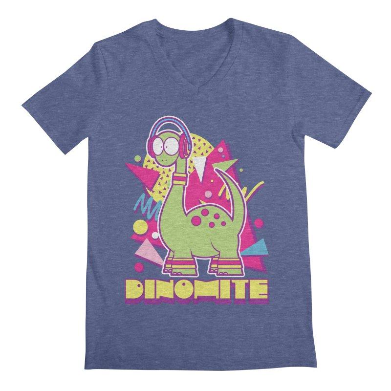 DINOMITE! Men's Regular V-Neck by Kappacino Creations
