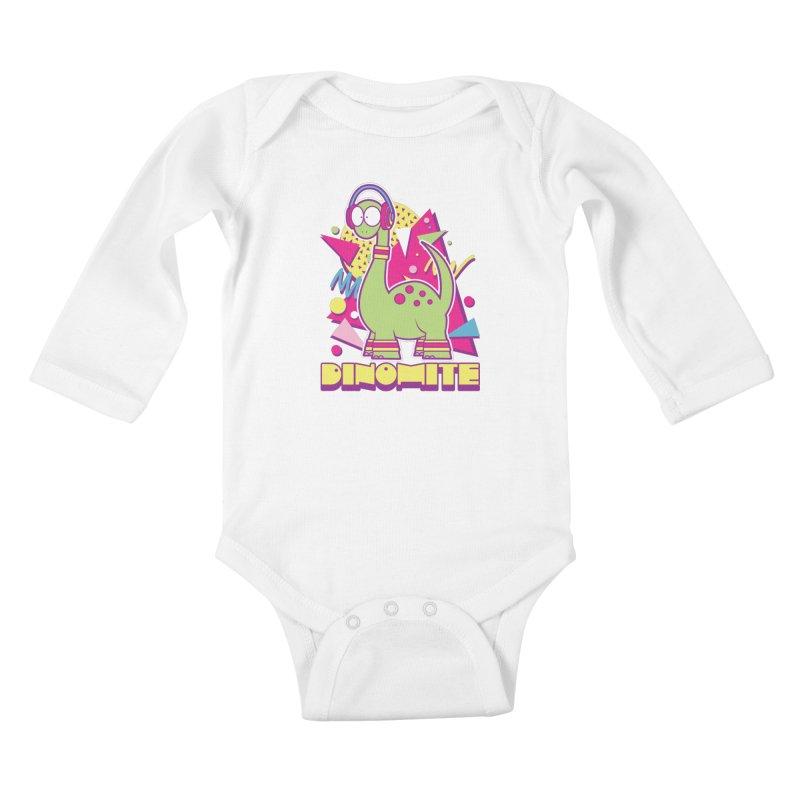 DINOMITE! Kids Baby Longsleeve Bodysuit by Kappacino Creations