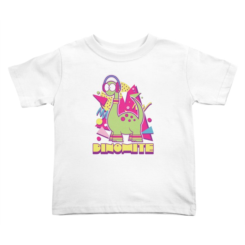 DINOMITE! Kids Toddler T-Shirt by Kappacino Creations