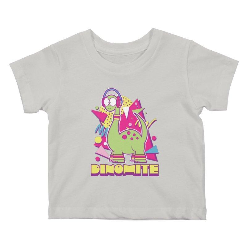 DINOMITE! Kids Baby T-Shirt by Kappacino Creations