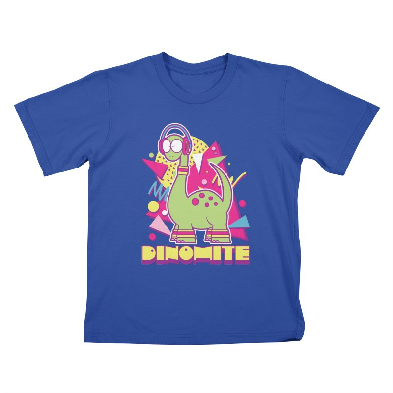 DINOMITE! Kids T-Shirt by Kappacino Creations