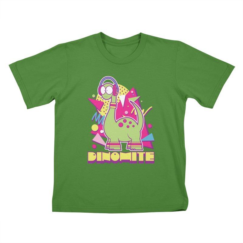 DINOMITE! Kids T-shirt by Kappacino Creations
