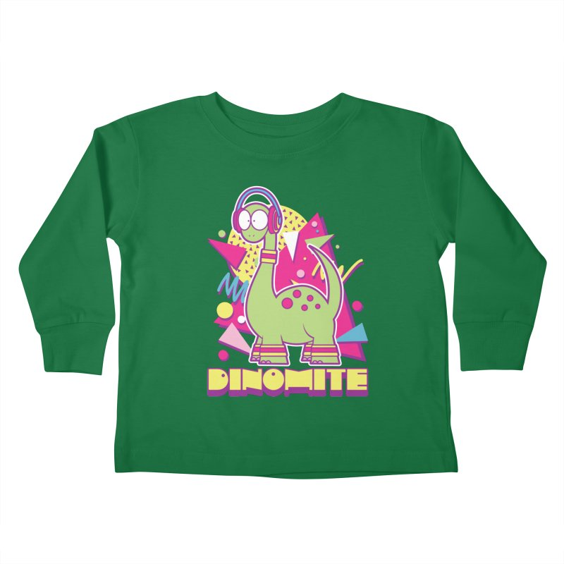 DINOMITE! Kids Toddler Longsleeve T-Shirt by Kappacino Creations