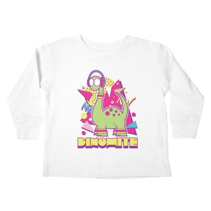 DINOMITE! Kids Toddler Longsleeve T-Shirt by Kappacino Creations