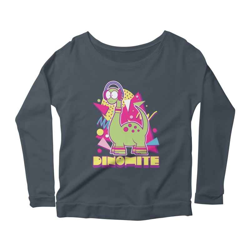 DINOMITE! Women's Longsleeve Scoopneck  by Kappacino Creations
