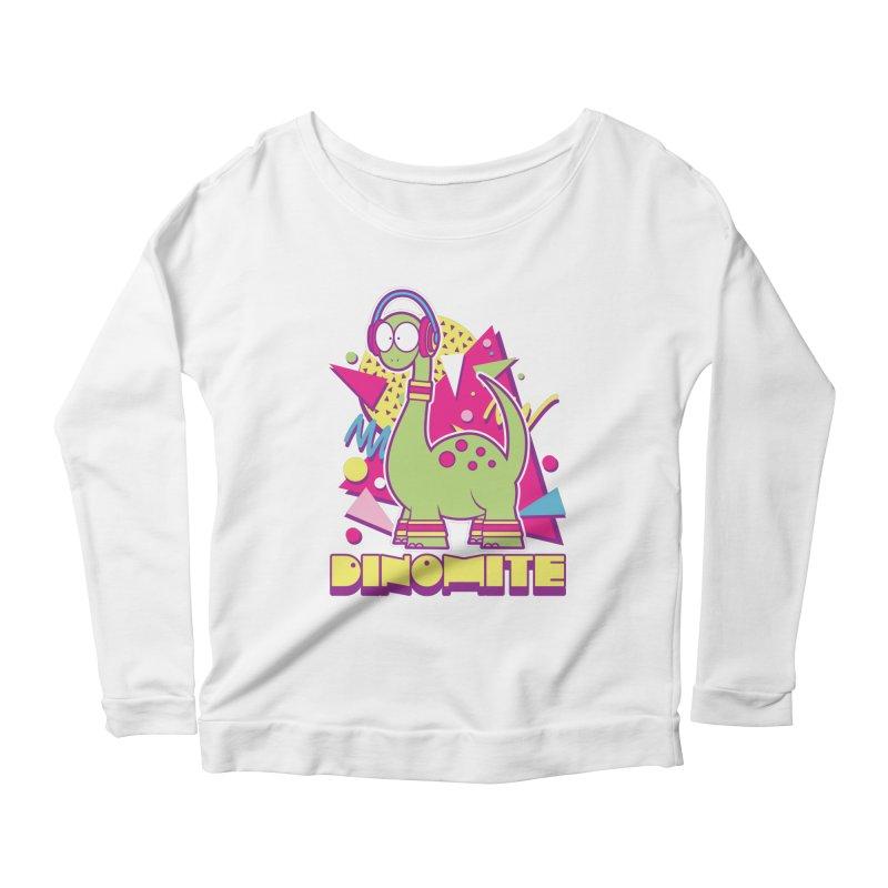 DINOMITE! Women's Scoop Neck Longsleeve T-Shirt by Kappacino Creations