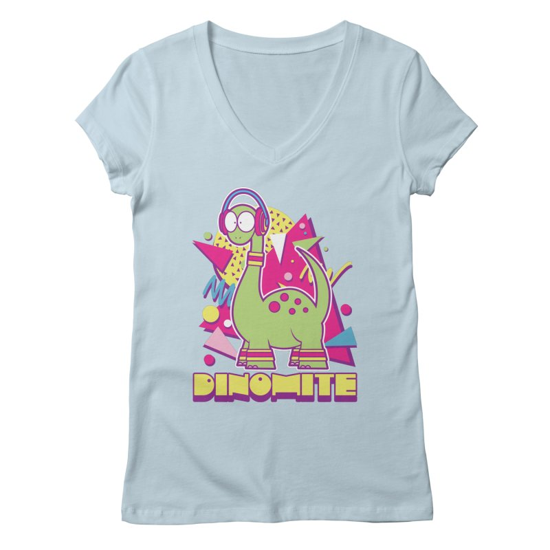 DINOMITE! Women's V-Neck by Kappacino Creations