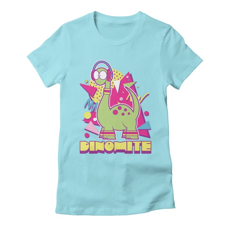 DINOMITE! Women's Fitted T-Shirt by Kappacino Creations