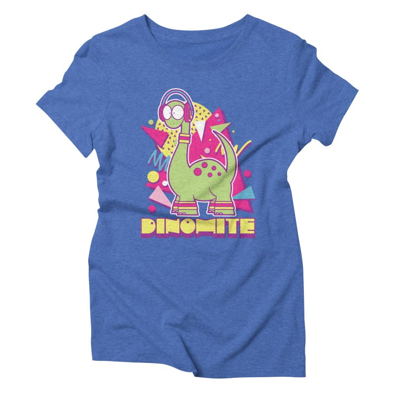 DINOMITE! Women's Triblend T-Shirt by Kappacino Creations