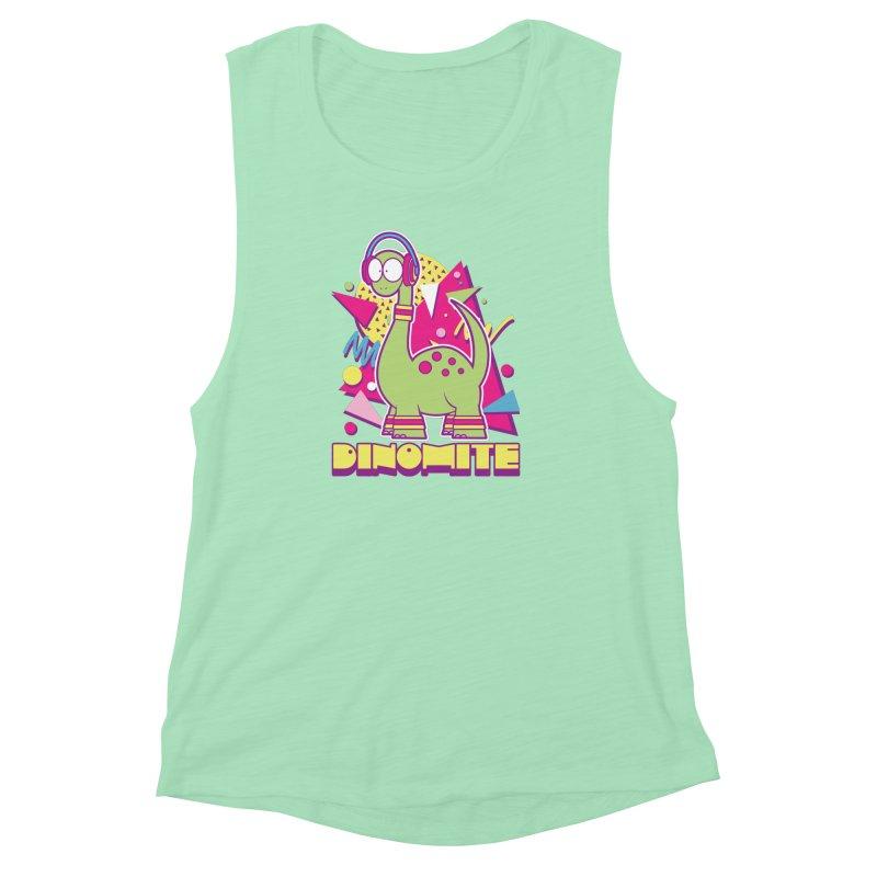 DINOMITE! Women's Muscle Tank by Kappacino Creations