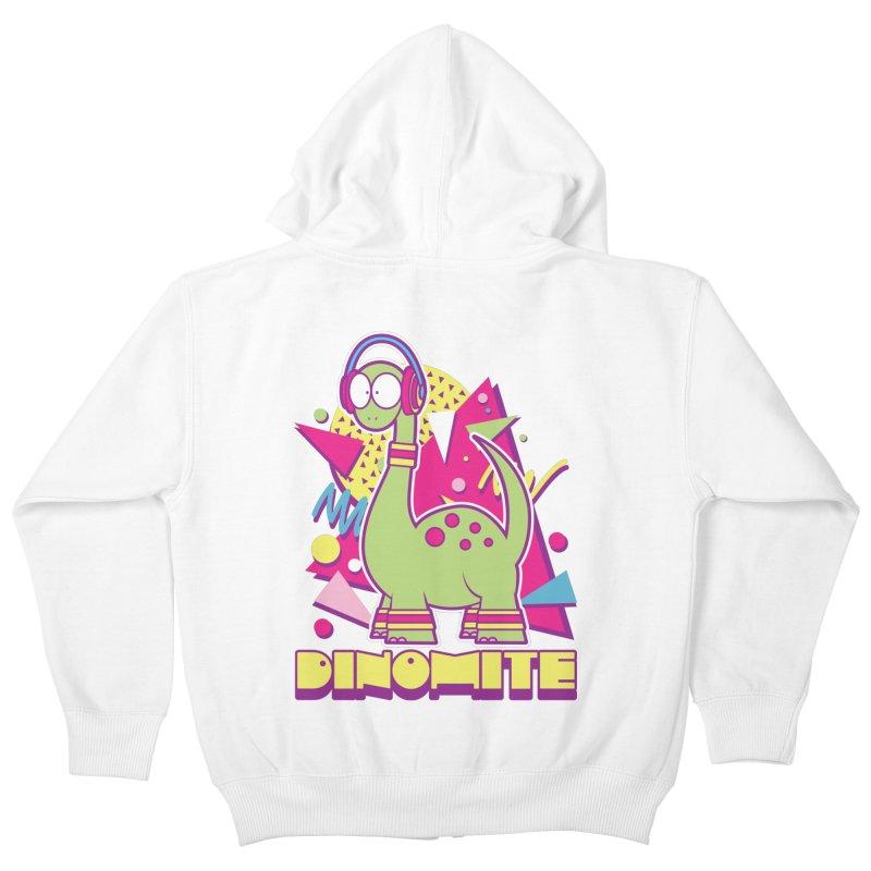 DINOMITE! Kids Zip-Up Hoody by Kappacino Creations