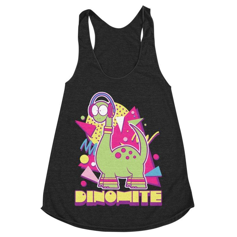 DINOMITE! Women's Racerback Triblend Tank by Kappacino Creations