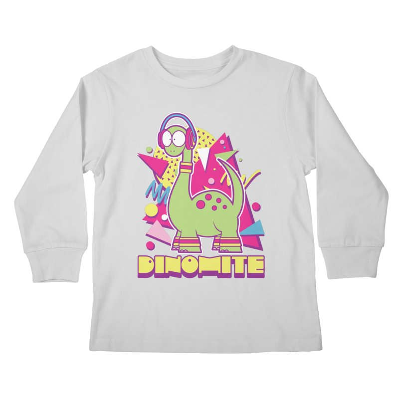 DINOMITE! Kids Longsleeve T-Shirt by Kappacino Creations