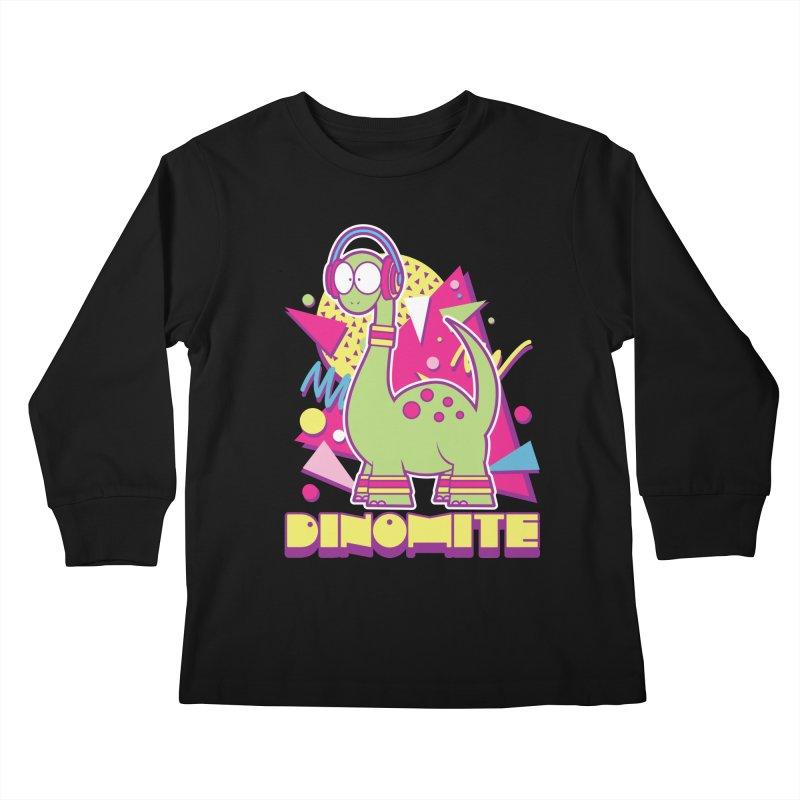 DINOMITE! Kids Longsleeve T-Shirt by Kappacino Creations