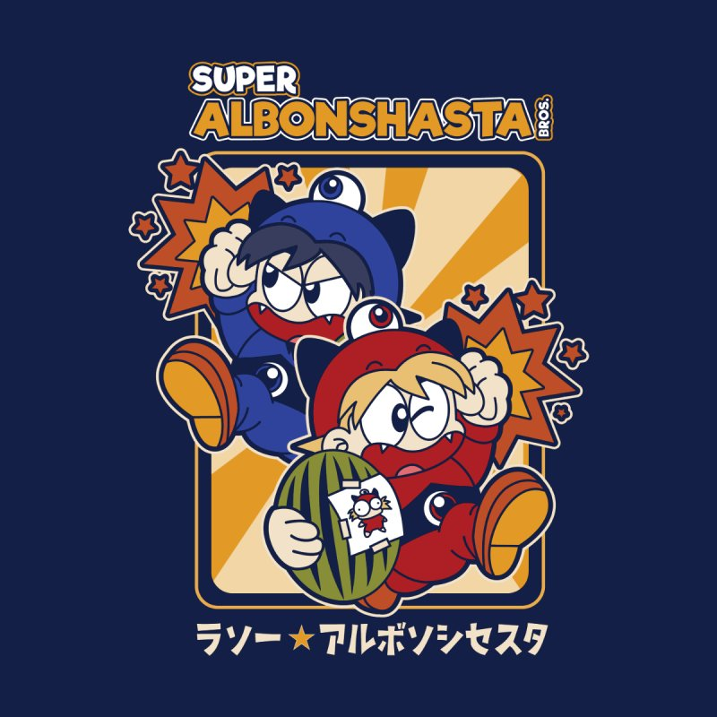 Super Albonshasta Bros.  Men's T-Shirt by Kappacino Creations