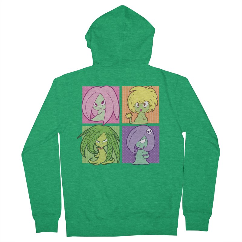 Posey, Dandelion, Fern and Thorn Women's Zip-Up Hoody by Kappacino Creations