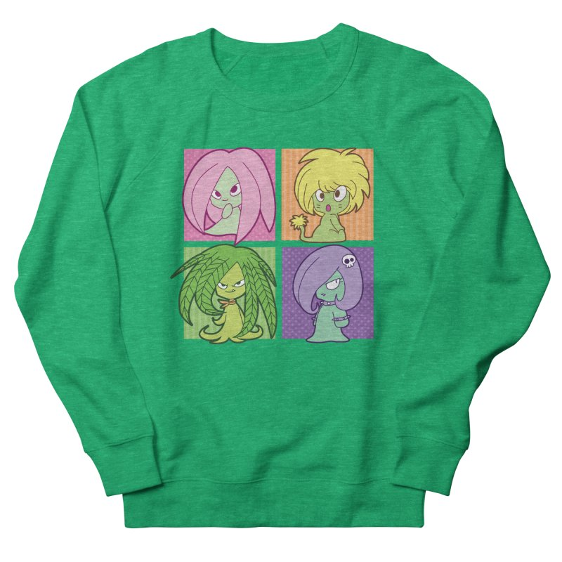 Posey, Dandelion, Fern and Thorn Women's French Terry Sweatshirt by Kappacino Creations