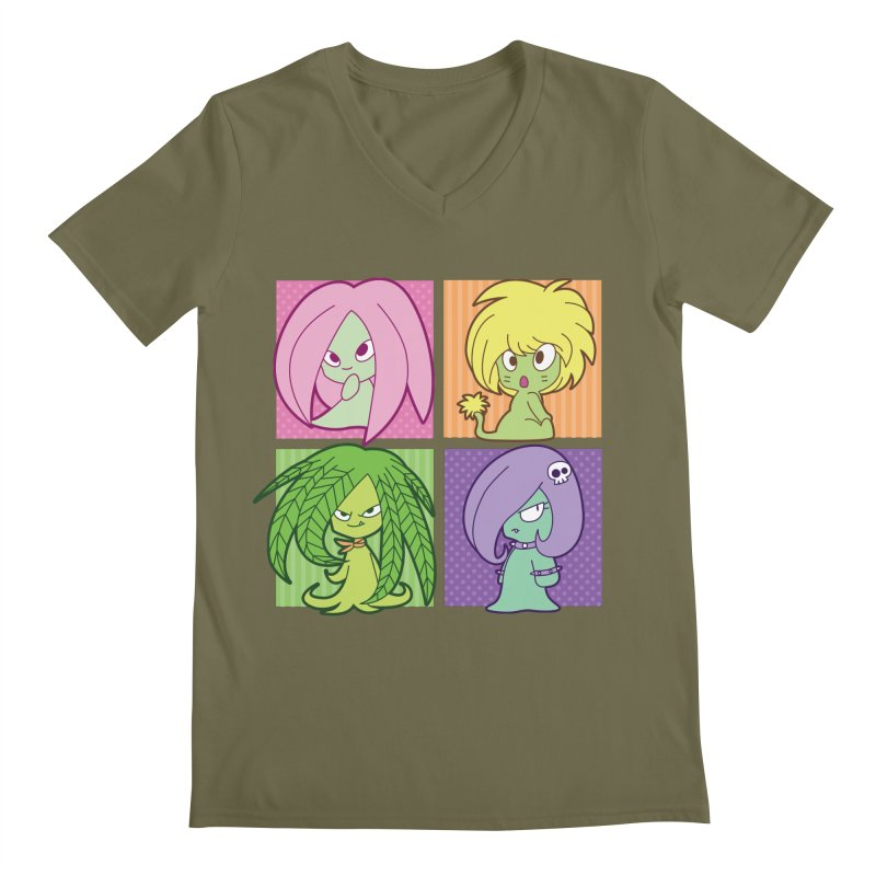 Posey, Dandelion, Fern and Thorn Men's Regular V-Neck by Kappacino Creations