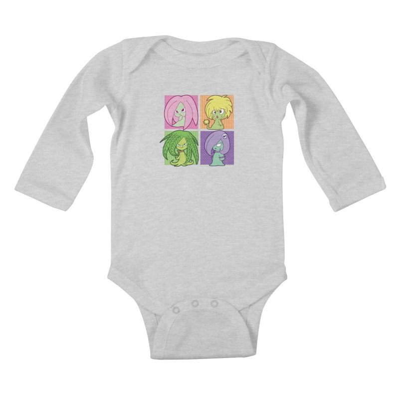 Posey, Dandelion, Fern and Thorn Kids Baby Longsleeve Bodysuit by Kappacino Creations