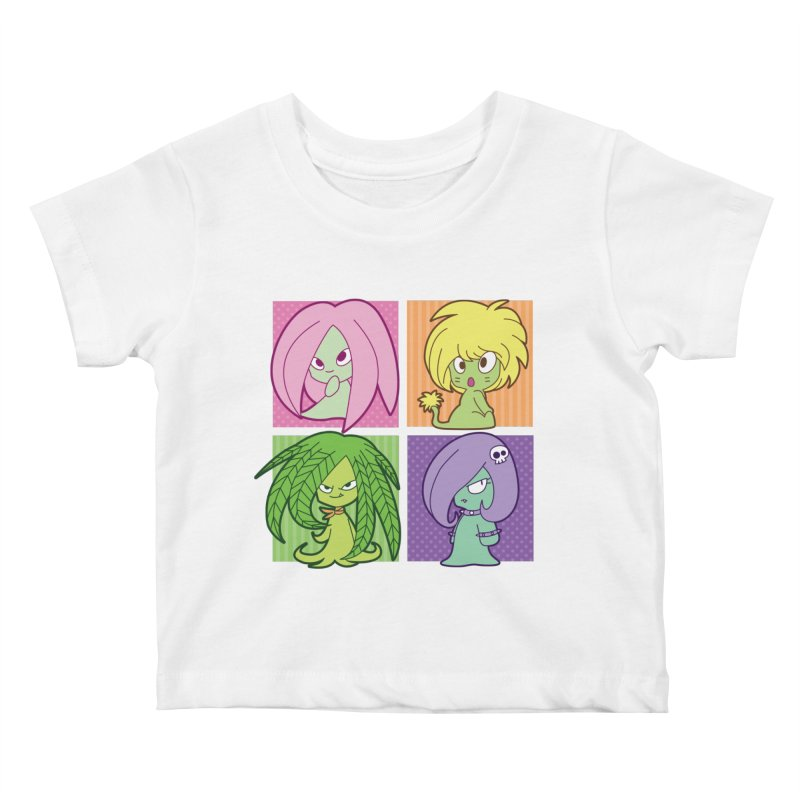 Posey, Dandelion, Fern and Thorn Kids Baby T-Shirt by Kappacino Creations
