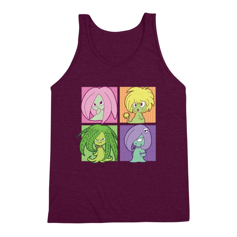 Posey, Dandelion, Fern and Thorn Men's Triblend Tank by Kappacino Creations