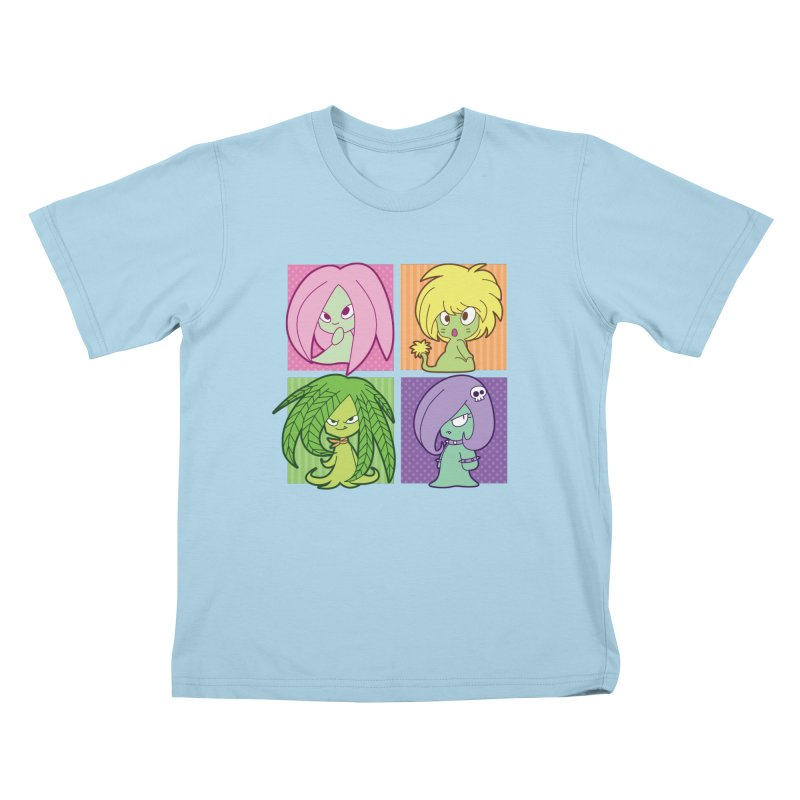 Posey, Dandelion, Fern and Thorn Kids T-Shirt by Kappacino Creations
