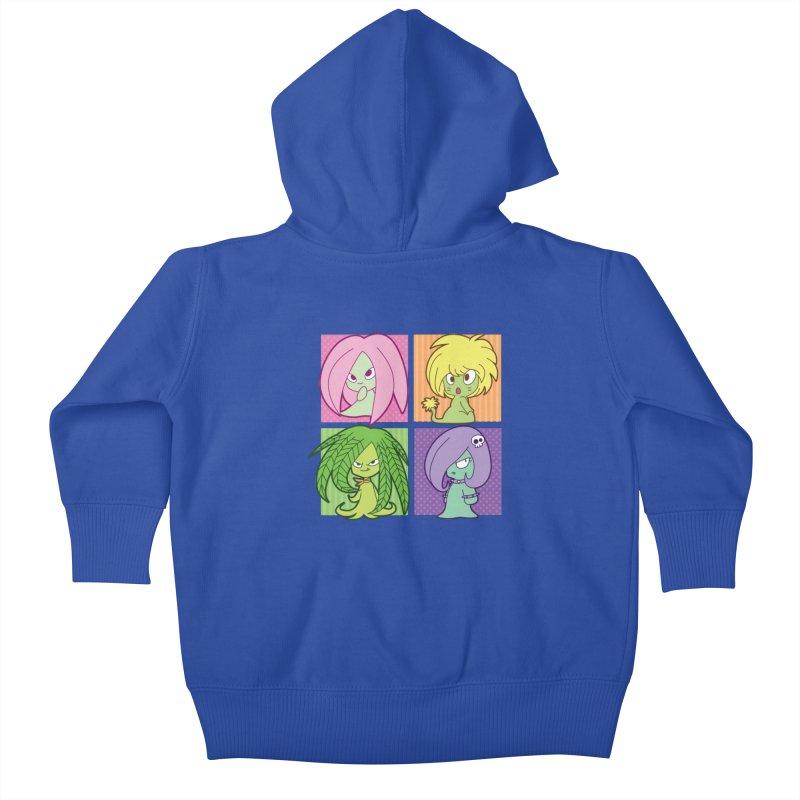 Posey, Dandelion, Fern and Thorn Kids Baby Zip-Up Hoody by Kappacino Creations
