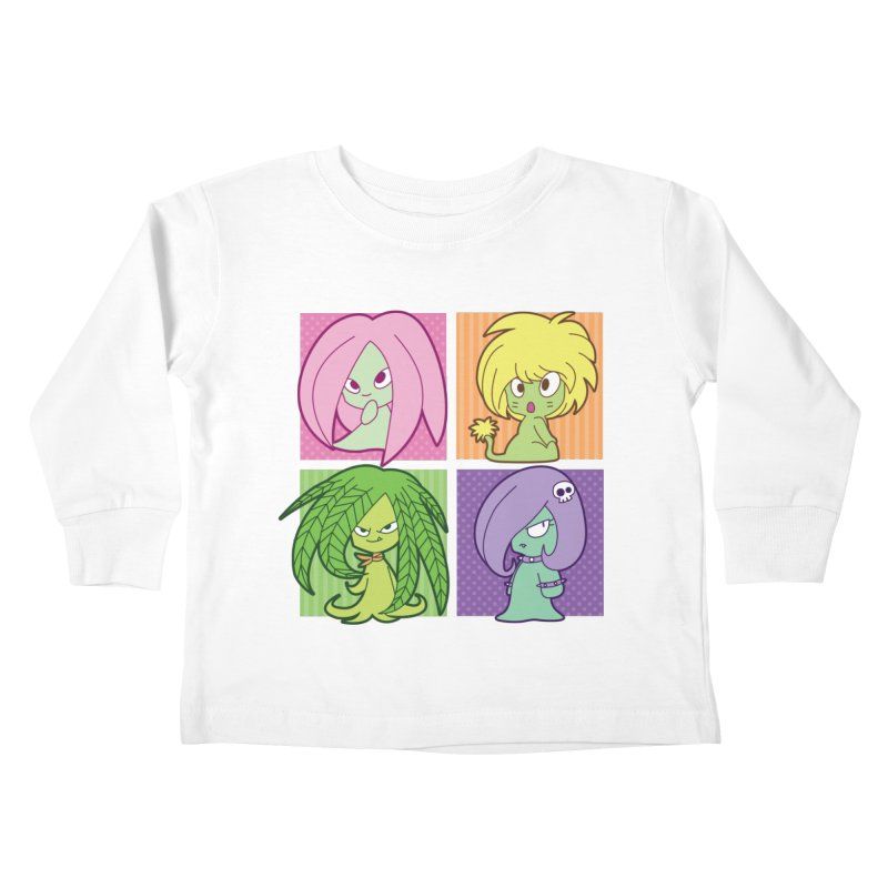 Posey, Dandelion, Fern and Thorn Kids Toddler Longsleeve T-Shirt by Kappacino Creations