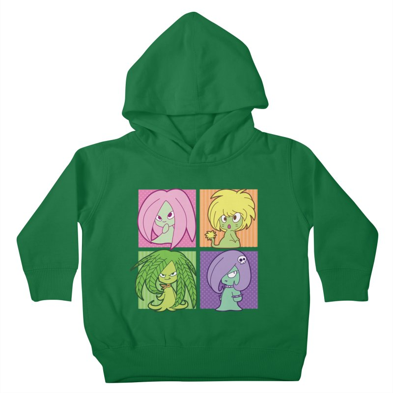 Posey, Dandelion, Fern and Thorn Kids Toddler Pullover Hoody by Kappacino Creations