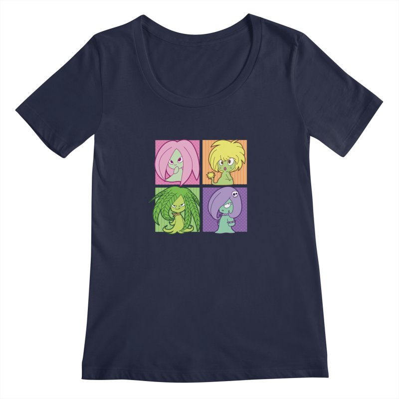 Posey, Dandelion, Fern and Thorn Women's Scoopneck by Kappacino Creations