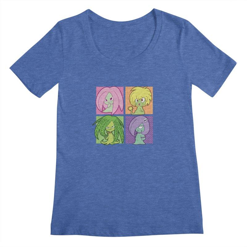 Posey, Dandelion, Fern and Thorn Women's Regular Scoop Neck by Kappacino Creations