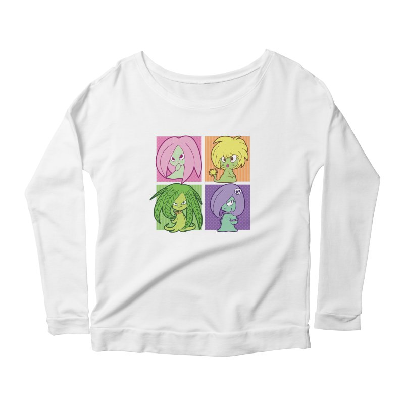 Posey, Dandelion, Fern and Thorn Women's Scoop Neck Longsleeve T-Shirt by Kappacino Creations