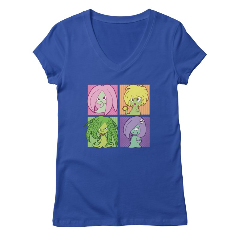 Posey, Dandelion, Fern and Thorn Women's Regular V-Neck by Kappacino Creations