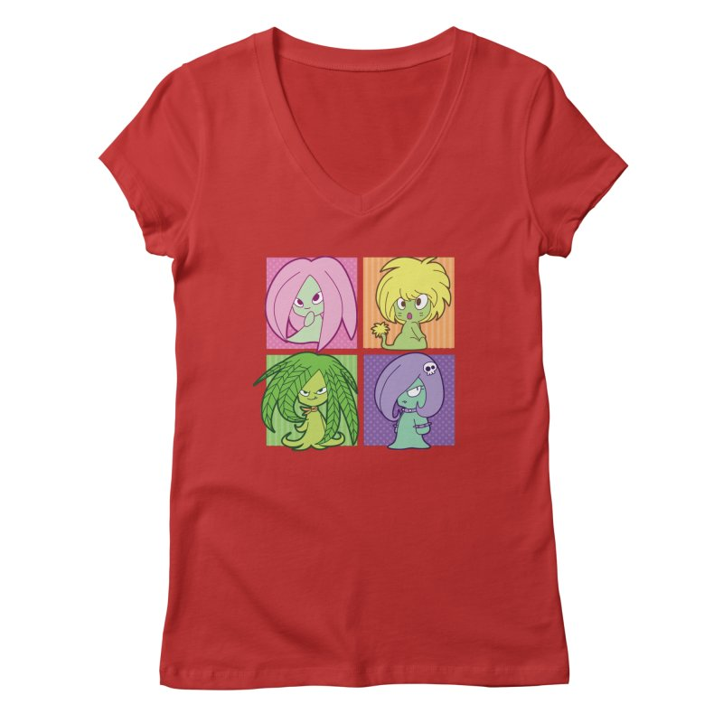 Posey, Dandelion, Fern and Thorn Women's V-Neck by Kappacino Creations