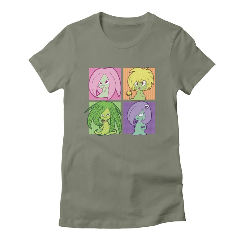 Posey, Dandelion, Fern and Thorn Women's Fitted T-Shirt by Kappacino Creations