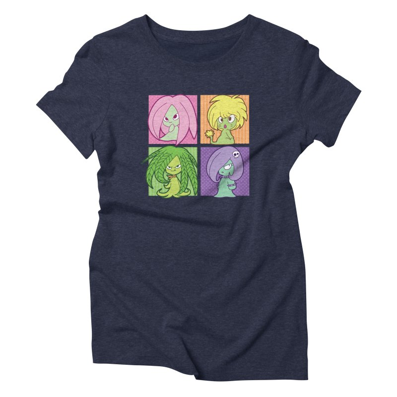 Posey, Dandelion, Fern and Thorn Women's Triblend T-Shirt by Kappacino Creations