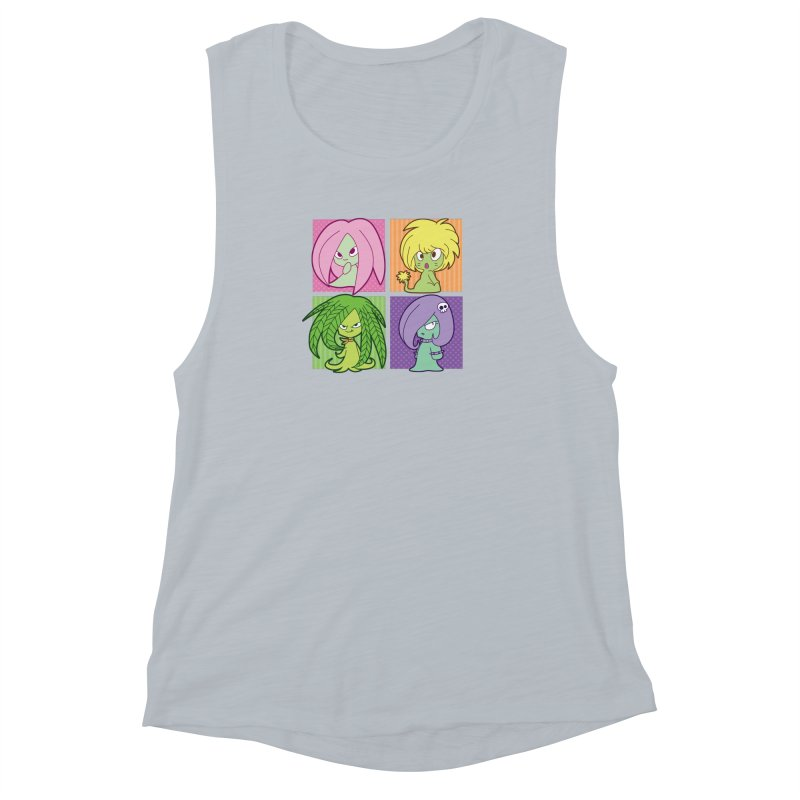 Posey, Dandelion, Fern and Thorn Women's Muscle Tank by Kappacino Creations