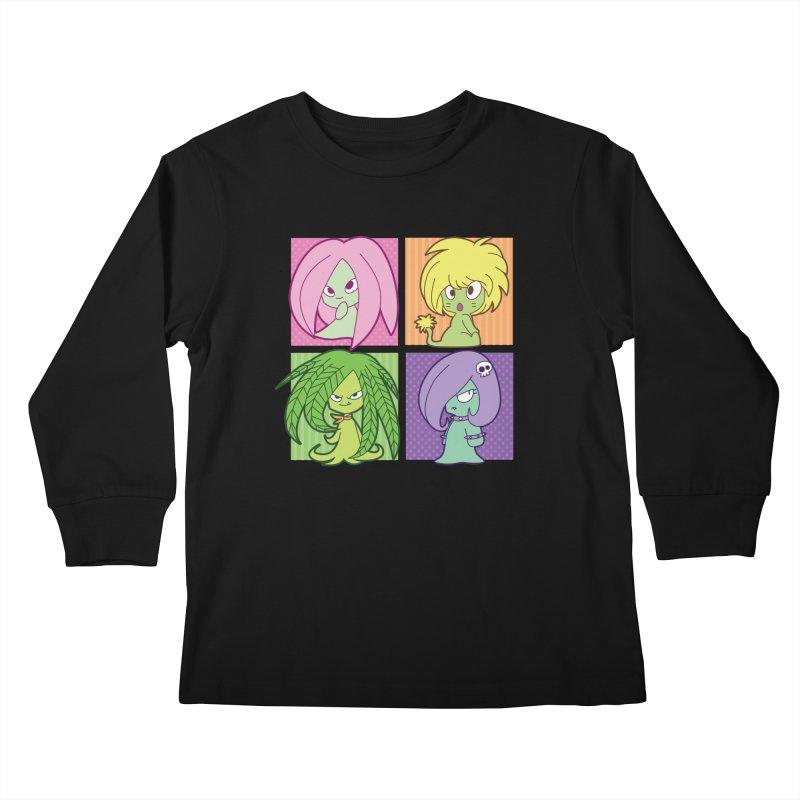 Posey, Dandelion, Fern and Thorn Kids Longsleeve T-Shirt by Kappacino Creations