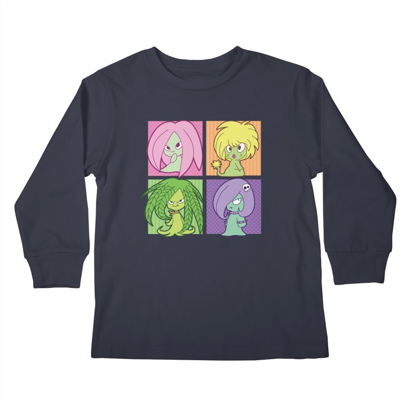 Posey, Dandelion, Fern and Thorn Kids Longsleeve T-Shirt by Kappacino Creations