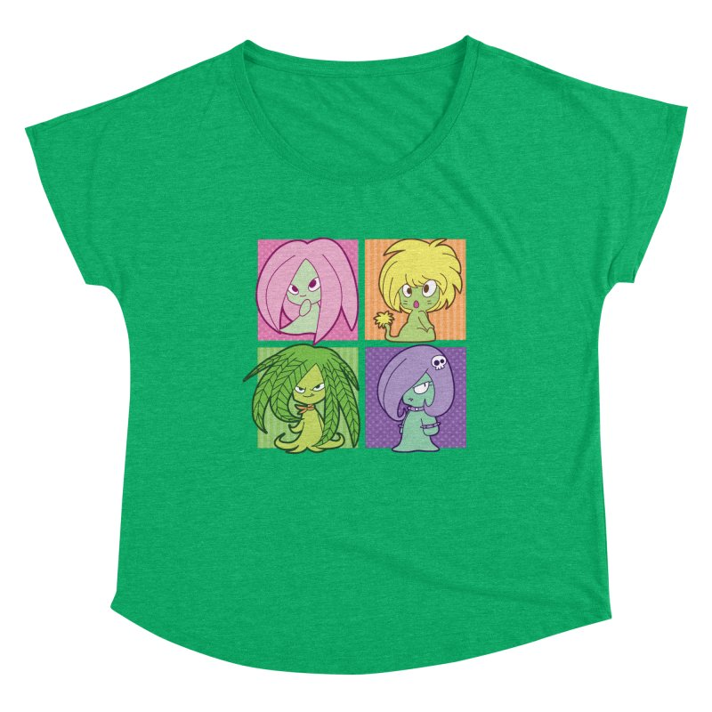 Posey, Dandelion, Fern and Thorn Women's Scoop Neck by Kappacino Creations