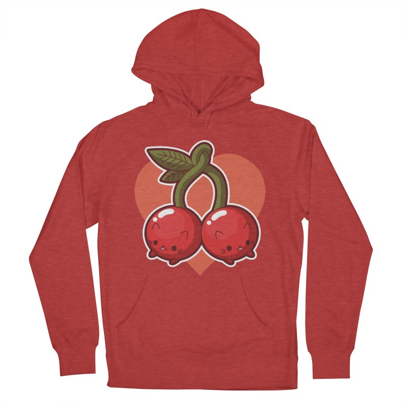 Cherries Men's French Terry Pullover Hoody by Kappacino Creations